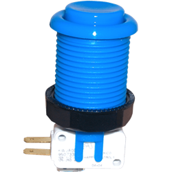 Happ Pushbutton W / Horizontal Micro-Switch - Blue