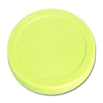 "Small Green Plastic Puck (2 1/2"")"