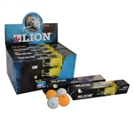 LION 1 STAR 40MM WHITE TABLE TENNIS BALLS - 6 Pack