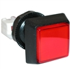 Large Square Illuminated Pushbutton - Red