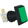 Medium Rectangle Illuminated Pushbutton Green
