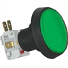 Medium Round Illuminated Pushbutton - Green