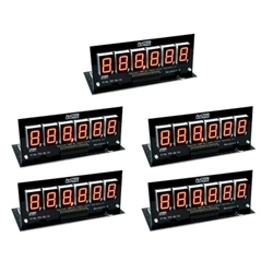 Pinscore LED Display Set - 5 x 6 Digit Orange - Bally/Stern