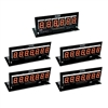 PINSCORE LED Display Set - B/S 1 x 6 Digit, 4 x 7 Digit Orange