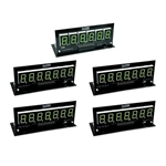 PINSCORE LED Display Set - B/S 1 x 6 Digit, 4 x 7 Digit Green