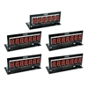 PINSCORE LED Display Set - B/S 1 x 6 Digit, 4 x 7 Digit Red