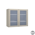 "36"" 2 Glass Door Wall Cabinet"