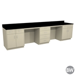 "144"" X 30"" Casework Kit with Epoxy Top (144"" X 36"" X 30""D)"