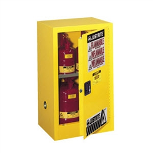 Justrite 4 Gal. Countertop Sure-Grip&#0174 EX Lab Safety Cabinet (Self-Close, Yellow)
