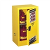 Justrite 12 Gal. Compac Sure-Grip&#0174 EX Lab Safety Cabinet (Self-Close, Yellow)