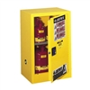 Justrite 15 Gal. Compac Sure-Grip EX Lab Safety Cabinet (Self-Close, Yellow)