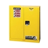 Justrite 30 Gal. Compac Sure-Grip&reg EX Lab Safety Cabinet (Self-Close, Yellow)