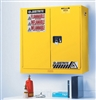 Wall Mount Sure-Grip Flammable Safety Cabinet 20 Gal. Manual Doors