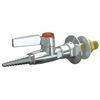 Panel Mounted Flange w Ball Valve - GAS
