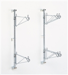 Super Erecta Chrome Wall Mount Post