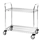 "36""L x 18""W 2-Tier Chrome Series Utility Cart"