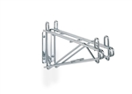 Super Erecta Stainless Steel Double Shelf Support