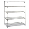 "Metro Stainless Steel Super Adjustable 2 Wire Shelving - 5-Shelf Unit, 18"" x 60"" x 74"""