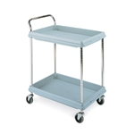 Metro BC2030-2D Deep-Ledge Polymer Utility Cart - 2 Shelf Unit