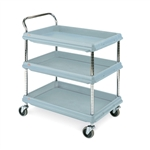 Metro BC2636-3D Deep-Ledge Polymer Utility Cart - 3 Shelf Unit