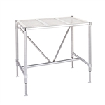 "Metro Cleanroom Table, Perforated Top Electropolished - 30"" x 36"""