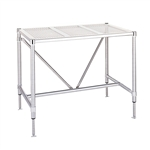 "Metro Cleanroom Table, Perforated Top Electropolished - 30"" x 48"""