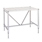 "Metro Cleanroom Table, Perforated Top Electropolished - 30"" x 60"""