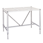 "Metro Cleanroom Table, Perforated Top Electropolished - 30"" x 72"""
