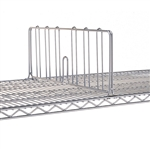"18""W Super Erecta Chrome Shelf Divider"