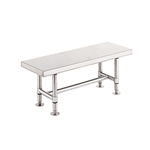 "Metro Stainless Steel Heavy-Duty Gowning Bench GB1648S, 16""D x 48""W x 18""H"