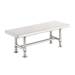 "Metro Stainless Steel Heavy-Duty Gowning Bench GB1660S, 16""D x 60""W x 18""H"