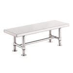 "Metro Stainless Steel Heavy-Duty Gowning Bench GB1672S, 16""D x 72""W x 18""H"