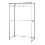 Metro Cleanroom Garment Rack 24 x 60 w/Hangers - Stainless Steel