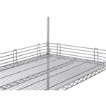 "1"" Stainless Steel Super Erecta Ledge (48""L)"