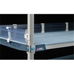 "4"" MetroMax Q Solid Clear Stackable Shelf Ledges- Back (60""W Shelf)"