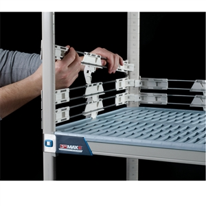 "2"" MetroMax Q Stackable Shelf Ledges- Side (18""D Shelf)"