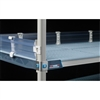 "4"" MetroMax Q Solid Clear Stackable Shelf Ledges- Side (24""D Shelf)"