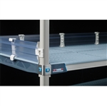 "4"" MetroMax i Solid Clear Stackable Shelf Ledges- Back (36""W Shelf)"