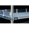 "4"" MetroMax i Solid Clear Stackable Shelf Ledges- Side (18""D Shelf)"