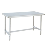 "Metro WT306HS 30"" x 60"" HD Super Stainless Steel Mobile Work Table - H-Frame"