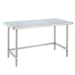 "Metro WT306US 30"" x 60"" HD Super Stainless Steel Mobile Work Table - 3-Sided Frame"