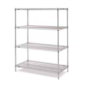 "Metro EZ1836NC-4 Super Erecta Chrome Convenience Pak - 18"" x 36"""
