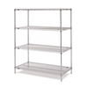 "Metro EZ1848NC-4 Super Erecta Chrome Convenience Pak - 18"" x 48"""