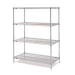 "Metro EZ2436NC-4 Super Erecta Chrome Convenience Pak - 24"" x 36"""