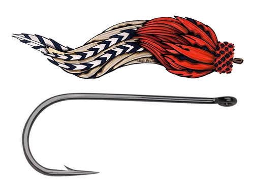 MISFIT MUSKIE HOOK - BIG FLY STREAMER HOOK