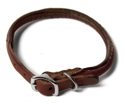 Latigo Leather Rolled Collar