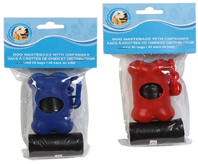 Paws-N-Claws 2 pk Dog Waste Bags with Holder
