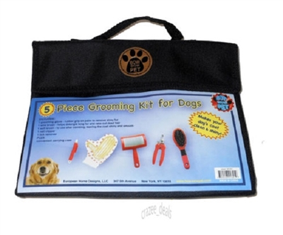 Bow Wow Pet 5 Piece Grooming Kit for Dogs