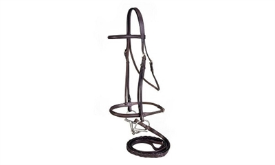 Silver Fox Raised Snaffle Bridle