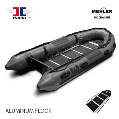 INMAR-430-PT-HD-ST aluminum floor Military Series Inflatable Boat Welded Seams